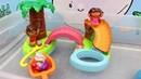 BUBBLE GUPPIES Bath Toy vs Dora The Explorer Molly Mermaid SURPRISE EGGS DisneyCarToys