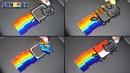 Nyan Cat Pancake art - Origin, Pikachu, MLP Rainbow Dash, Indonesia version