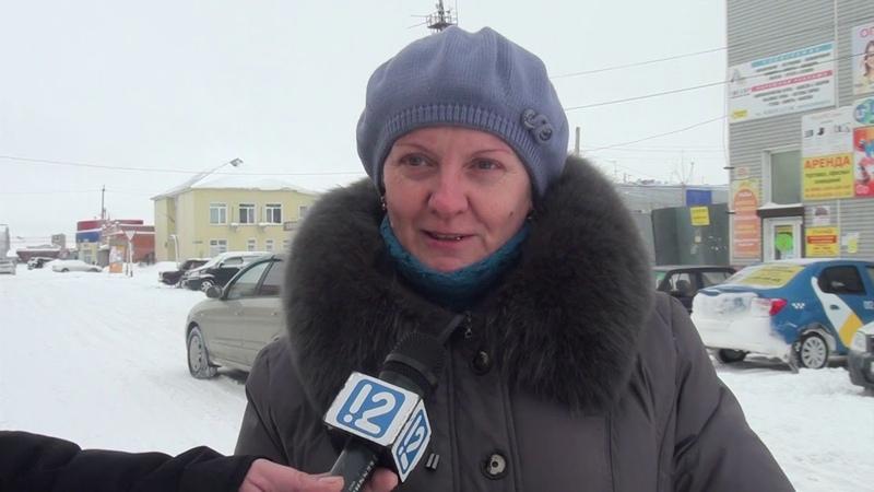 Обильный снегопад в Москаленках