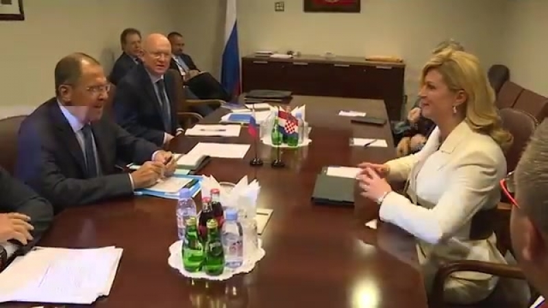 Встреча Сергея Лаврова с Президентом Хорватии К.Грабар-Китарович