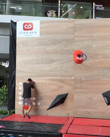 """Dennis Chua on Instagram """"Set this problem for @rockmaster.18 open men finals! A pity no one did this move in one motion but..."""