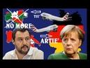 """40.000MIGRANTI, SCONTRO SALVINI-GERMANIA: """"CHIUSI GLI AEROPORTI""""LA MERKEL VUOLE ...."""