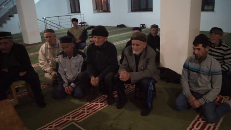 Вечерние уроки в центральной мечети с.Чиркей