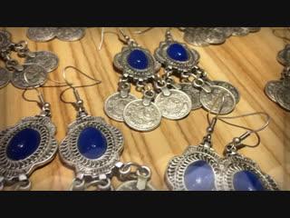 Башкирские сережки с камнями