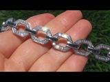 Certified Jewelry Estate Natural Blue Sapphire Diamond PLATINUM Tennis Cocktail Bracelet - C357