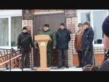Выступление военного комиссара г.Белебея, Белебеевского и Ермекеевского районов РБ Рустама Сахабова.