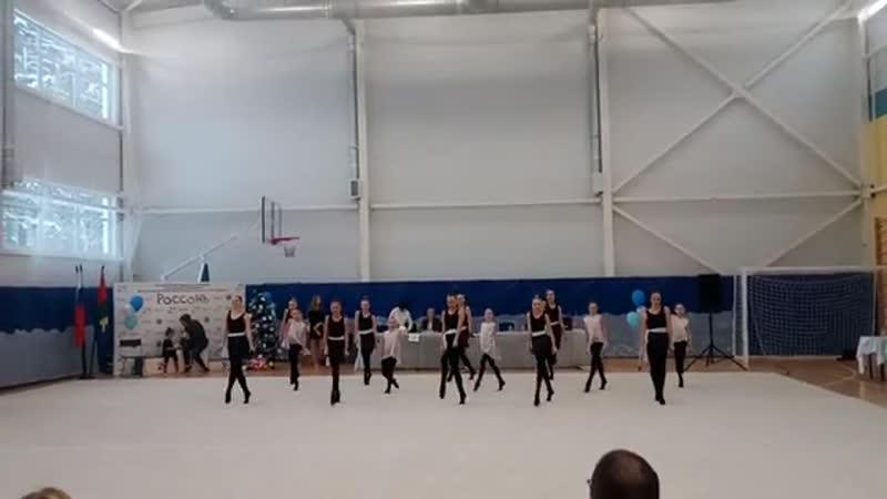 Художественная гимнастика.РОССОНЬ.Показательное выступление.23.12.18.
