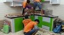 Tủ Bếp Nhôm Kính Sơn Tĩnh Điện Mẫu Ốp Kính Cao Cấp Đẹp Giá Rẻ Tphcm