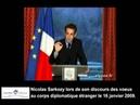 Discours sur le Nouvel Ordre Mondial de Nicolas Sarkozy le 16 janvier 2009