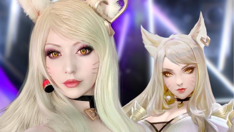 ☆ Ahri Cosplay K/DA POP/STARS Makeup Tutorial League of Legends ☆
