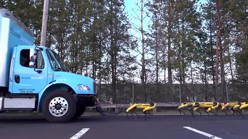 Mush, Spot, Mush Boston Dynamics 2019 Технологии Будущего Машини тягачи! ТОП