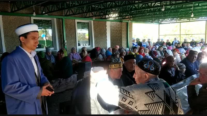 Дедушке Халиль абы уже за 80 Во время мероприятия 20 тия мечети г Антрацит он рассказал о своём участии в выборе дома которы