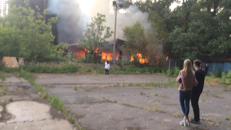 Очередной пожар в Москве