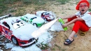 Disney Cars Lightning McQueen Car Wash Rescue by Dave Mario very fun on outdoor ground