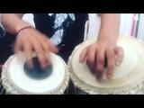 Karsh Kale - practicing - tabla - at - home . Instagram clip compilation