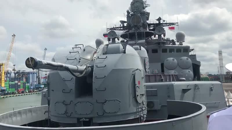 Последний Советский противолодочный корабль Адмирал Пантелеев-ВМС РФ в Джакарте