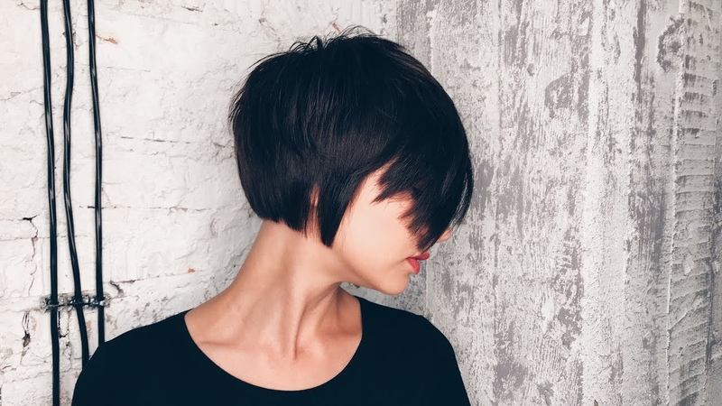 How to cut beautiful short bob haircut with layers