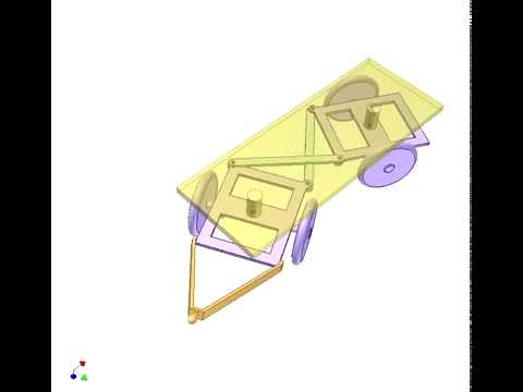 Механизм управления четырехколесным прицепом с малым радиусом поворота