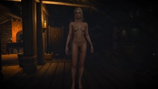 The Witcher 3. Naked Ciri