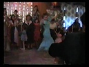 Gypsy wedding, Moscow, Russia. A girl dancing.
