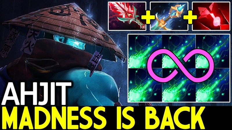 Ahjit [Storm Spirit] Madness is Back Crazy Gameplay 7.19 Dota 2