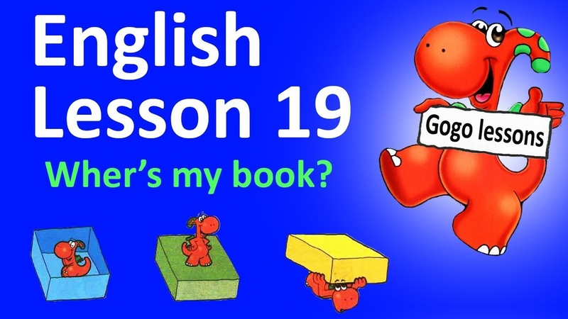 English Lesson 19 Where's my book ENGLISH VIDEO COURSE FOR KIDS