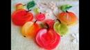 Яблочки на войлоке рисуем шерстью 🍏🍎🌼🍀🍂