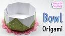 Origami - Bowl, Dish (How to make a Paper Bowl, Tutorial)