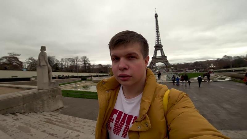 Отпилили ножовкой кусок Эйфелевой башни Митингуем против повышения цен на круассаны в Париже