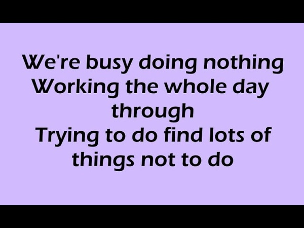 Busy Doing Nothing Song with Lyrics Sung by Bing Crosby, William Bendix Cedric Hardwicke