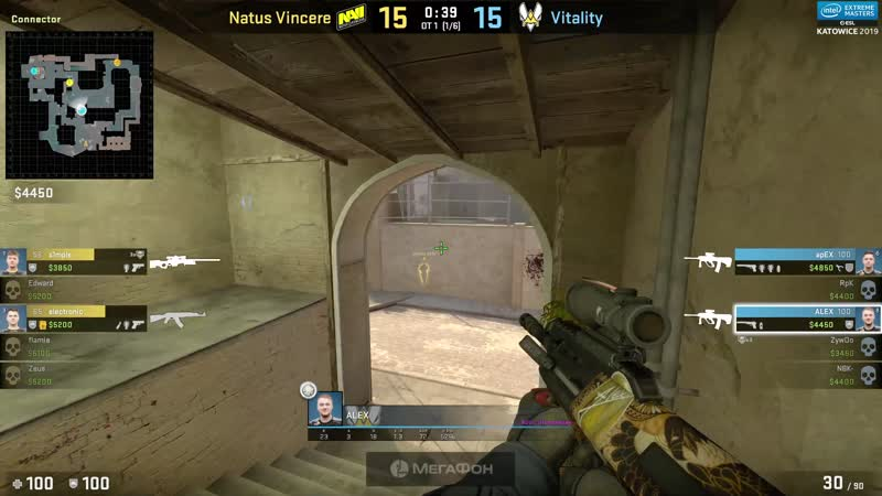 S1mple and electronik 9000 iq round