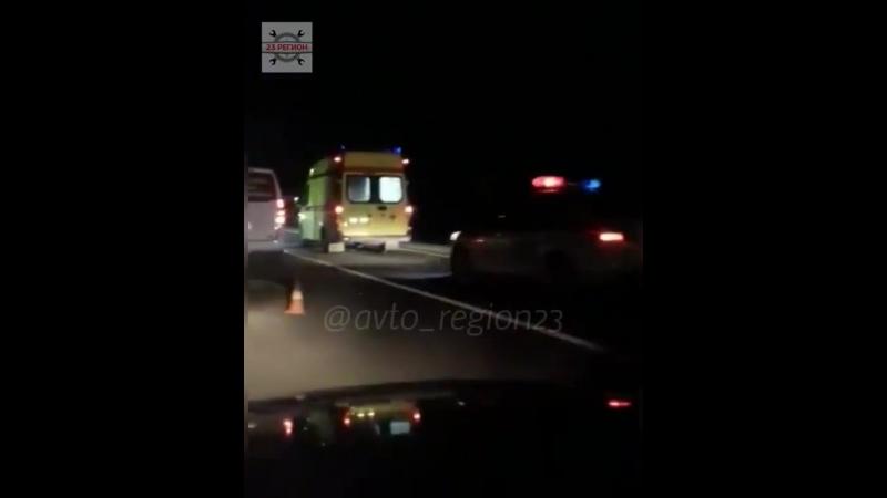Две девушки погибли ставя знак аварийной остановки, ночью в районе хутора Красный курган г.Анапа!
