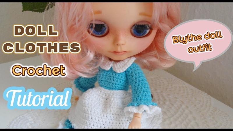 How to crochet dresses for blythe doll joint body doll crochet dresses