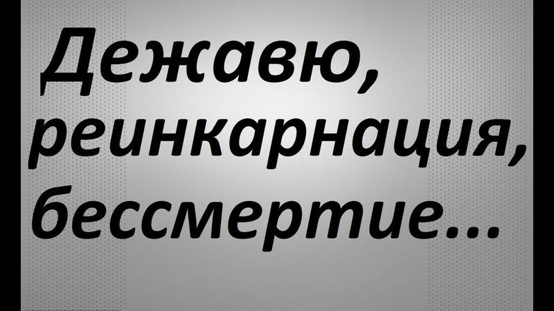 Дежавю,реинкарнация,бессмертие...Павел Карелин