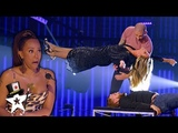 Illusionist Conjures UNBELIEVABLE Stunt with Heidi Klum on AGT Champions Magicians Got Talent