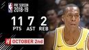 Rajon Rondo Full Highlights Nuggets vs Lakers 2018.10.02 - 11 Pts, 7 Ast, 2 Reb!