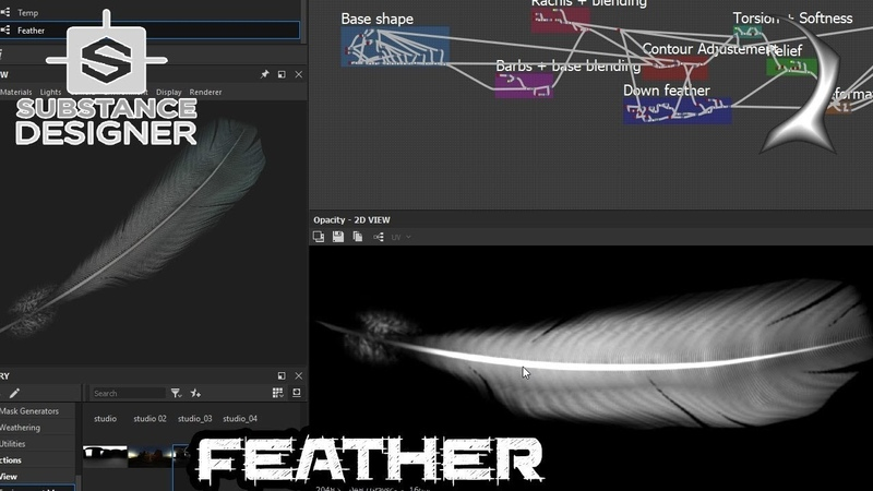 Lets make a feather with Substance Designer (Shore sand project)