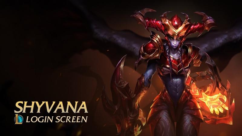 Shyvana - Login Screen | League of Legends [fanmade]
