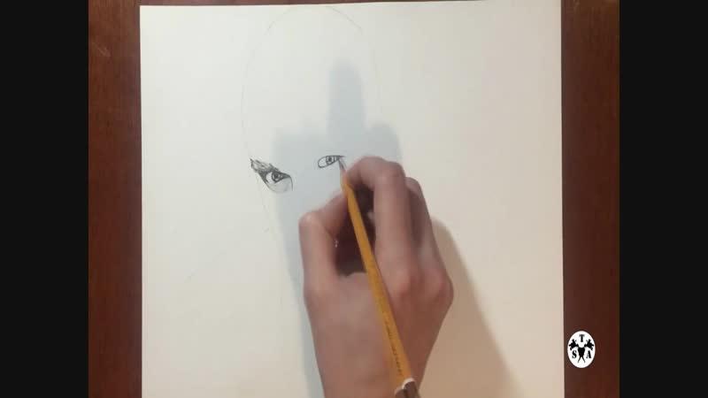 Рисунок, портрет физрука, портрет Дмитрия Нагиева