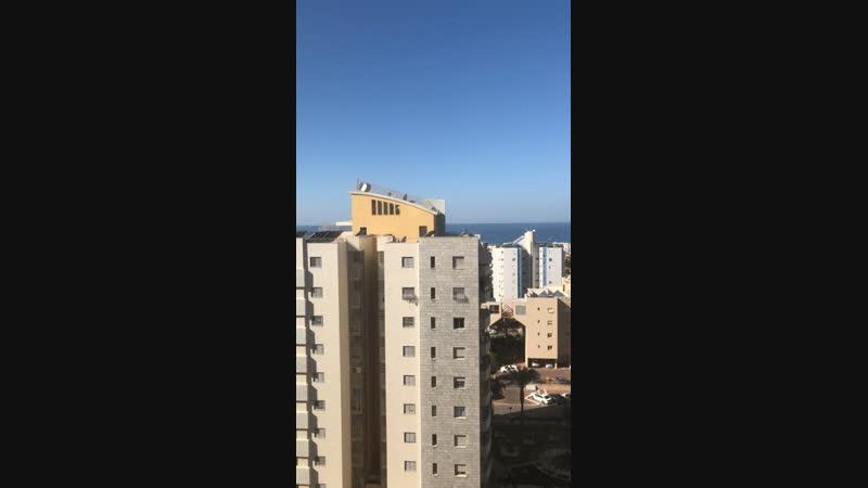 Ашкелон Израиль Вид из квартиры детей