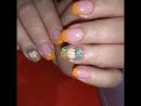 Natali Victory осень она и на ногтях пора сбора урожая кленовый листья уже рисовали теперь пришла очередь тыквы