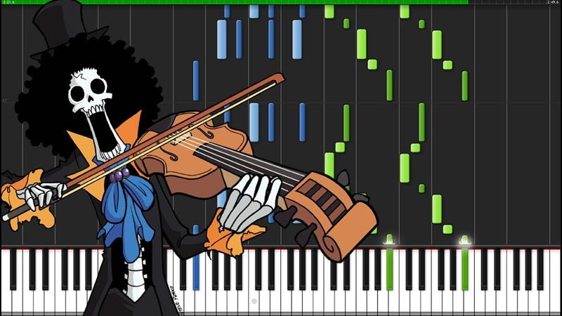 Binks Sake - One Piece [Piano Tutorial] (Synthesia) Marco Tornatore