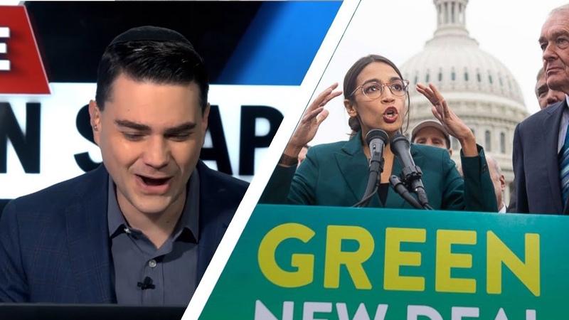DESTROY THE ECONOMY! Ben Shapiro DISMANTLES AOCS Green New Deal *2019*