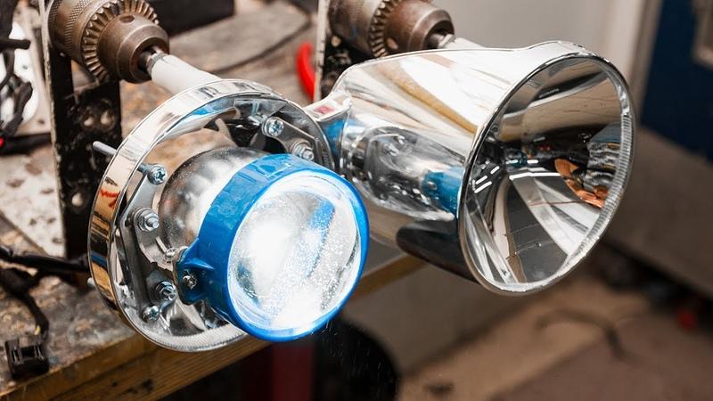 Установка линз в рефлекторные фары. Основные способы гайка врезка вклейка.