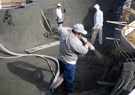 Строительство бассейна на крыше дома