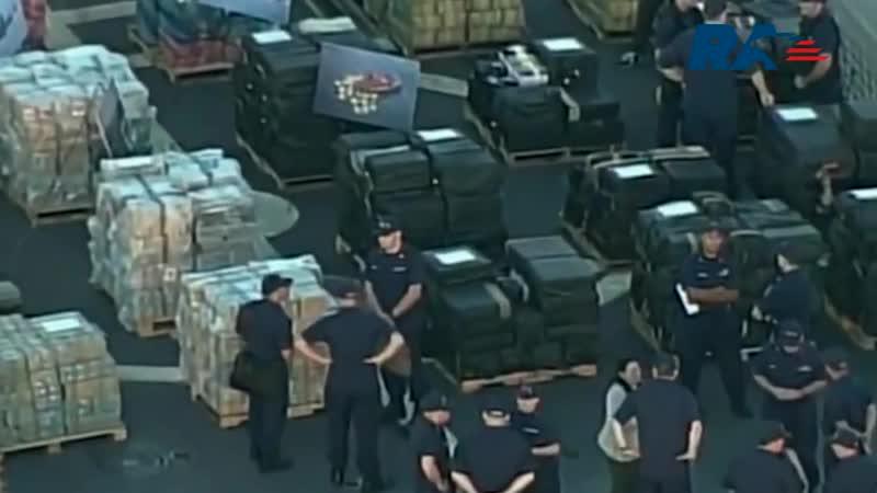 Береговая охрана США обнаружила 17 тонн тяжелых наркотиков.