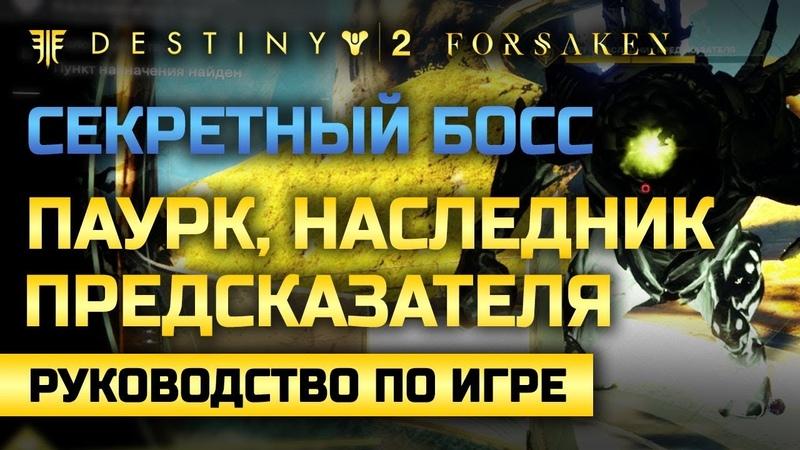 Destiny 2 Паурк Наследник Предсказателя Секретный босс Города Грёз