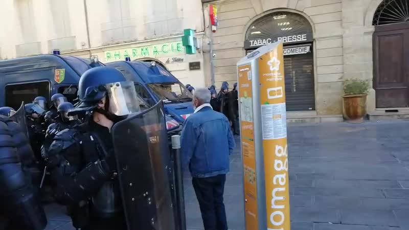 Acte 14 gilet jaune - Tension et scènes de casses à Montpellier_HD.mp4