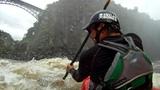 Zambezi Kayaking - Crossing Rapid 1, The Wall
