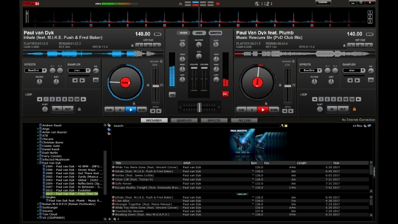 Roman Stalker mixing Inhale Music Rescues Me by PvD in VDJ